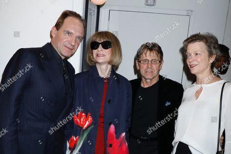 Stock Photo of Ralph Fiennes, Anna Wintour, Mikhail Baryshnikov and Lisa Rinehart
