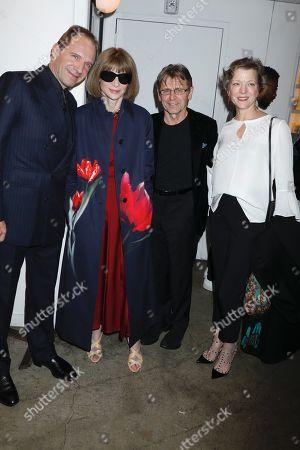 Stock Image of Ralph Fiennes, Anna Wintour, Mikhail Baryshnikov and Lisa Rinehart