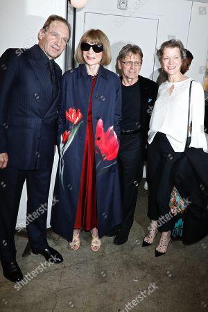 Ralph Fiennes, Anna Wintour, Mikhail Baryshnikov and Lisa Rinehart