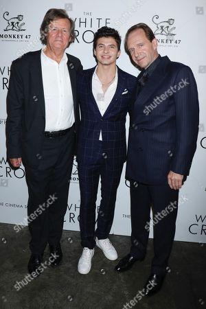 David Hare, Oleg Ivenko and Ralph Fiennes