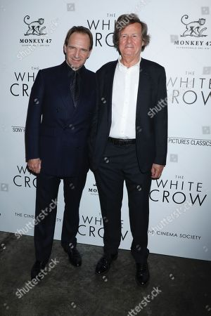 Stock Picture of Ralph Fiennes and David Hare
