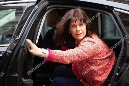 Claire Perry, Minister of State for Energy and Clean Growth, arrives for the Cabinet meeting.