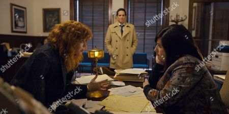 Natasha Lyonne as Nadia Vulvokov, Yul Vazquez as John Reyes and Tami Sagher as Shifra