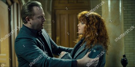 Jeremy Bobb as Mike Kershaw and Natasha Lyonne as Nadia Vulvokov