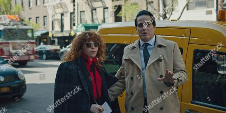 Natasha Lyonne as Nadia Vulvokov and Yul Vazquez as John Reyes