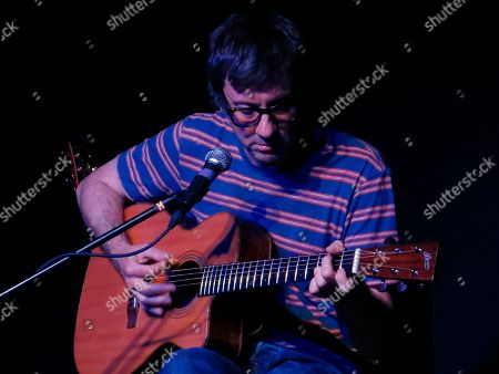 Stock Image of British musician Graham Coxon gives a concert in Mexico City