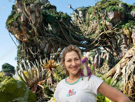 Edie Falco visits Pandora, The World of Avatar at Disney's Animal Kingdom in Orlando