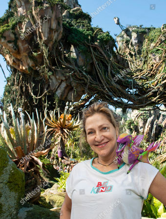 Edie Falco visits Pandora, The World of Avatar at Disney's Animal Kingdom in Orlando