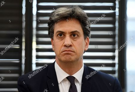 Former Labour leader Ed Miliband attends a panel with Swedish schoolgirl climate activist Greta Thunberg (not pictured) during an event inside the Houses of Parliament in Westminster, London, Britain, 23 April 2019. Thunberg was joined by Green MP Lucas, Former Labour leader Miliband and Secretary of State for the Environment Gove. Her visit coincides with the ongoing 'Extinction Rebellion' protests across London aimed to highlight the dangers of climate change.