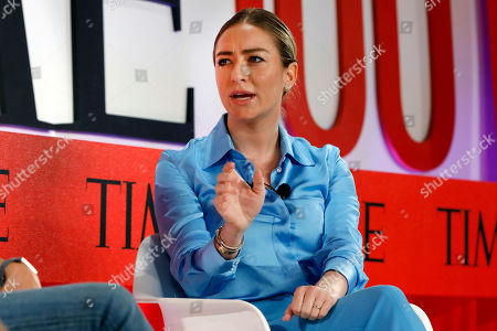 Founder and CEO of Bumble, Whitney Wolfe Herd, speaks during the TIME 100 Summit, in New York