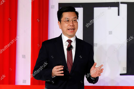 Chairman & CEO of Sinovation Ventures, Kai-Fu Lee, speaks during the TIME 100 Summit in New York