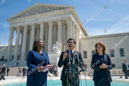 Dale Ho, Letitia James, Julie Menin. Dale Ho, center, an attorney for the American Civil Liberties Union, is flanked by New York State Attorney General Letitia James, left, and New York City Census Director Julie Menin, as they speak to reporters after the Supreme Court heard arguments over the Trump administration's plan to ask about citizenship on the 2020 census, in Washington, . Critics say adding the question would discourage many immigrants from being counted, leading to an inaccurate count