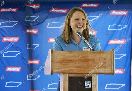 IMAGE DISTRIBUTED FOR RACETRAC - RaceTrac President Natalie Morhous speaks to the company's commitment that will bring more than 1000 jobs to Middle Tennessee on in Murfreesboro, Tenn