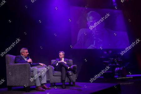 Paul McGinley and MC Matt Cooper