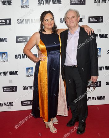 Deborah Frances-White and Peter Davison