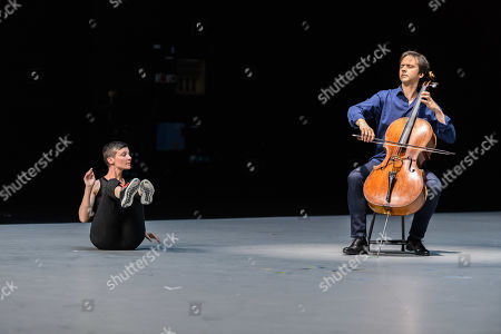 Editorial image of 'Mitten wir im Leben sind/ Bach6Cellosuiten' performance piece, London, UK - 23 Apr 2019