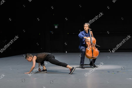Editorial picture of 'Mitten wir im Leben sind/ Bach6Cellosuiten' performance piece, London, UK - 23 Apr 2019