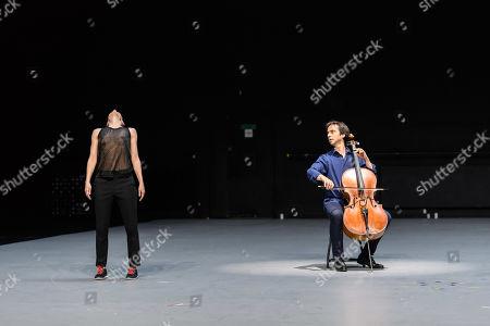 Editorial picture of 'Mitten wir im Leben sind/ Bach6Cellosuiten' performance piece, London, UK - 23 Apr 2019