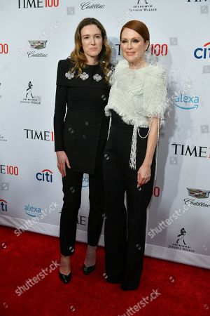 Clare Waight Keller and Julianne Moore