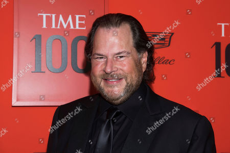 Marc Benioff attends the 2019 Time 100 Gala, celebrating the 100 most influential people in the world, at Frederick P. Rose Hall, Jazz at Lincoln Center, in New York