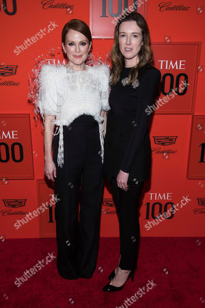 Julianne Moore, Clare Waight Keller. Julianne Moore, left, and Clare Waight Keller attend the 2019 Time 100 Gala, celebrating the 100 most influential people in the world, at Frederick P. Rose Hall, Jazz at Lincoln Center, in New York