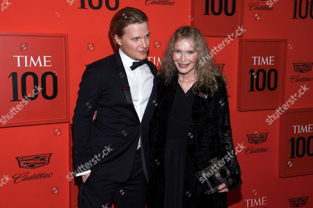 Mia Farrow, Ronan Farrow. Ronan Farrow and Mia Farrow attend the 2019 Time 100 Gala, celebrating the 100 most influential people in the world, at Frederick P. Rose Hall, Jazz at Lincoln Center, in New York
