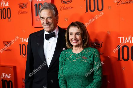 Paul Pelosi, Nancy Pelosi. Paul Pelosi and Nancy Pelosi attend the 2019 Time 100 Gala, celebrating the 100 most influential people in the world, at Frederick P. Rose Hall, Jazz at Lincoln Center, in New York