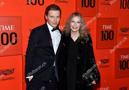 Ronan Farrow, Mia Farrow. Ronan Farrow, left, and his mother Mia Farrow attend the Time 100 Gala, celebrating the 100 most influential people in the world, at Frederick P. Rose Hall, Jazz at Lincoln Center, in New York