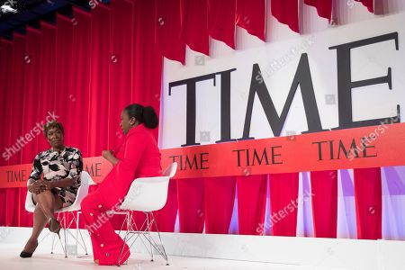 Joy Reid, Tarana Burke. Joy Reid, left, and activist Tarana Burke participate in a panel discussion during the TIME 100 Summit, in New York