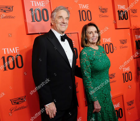 Stock Picture of Nancy Pelosi and Paul Pelosi
