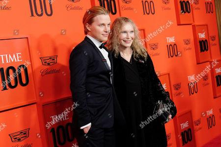Ronan Farrow and Mia Farrow