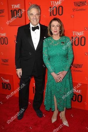 Stock Image of Nancy Pelosi and Paul Pelosi