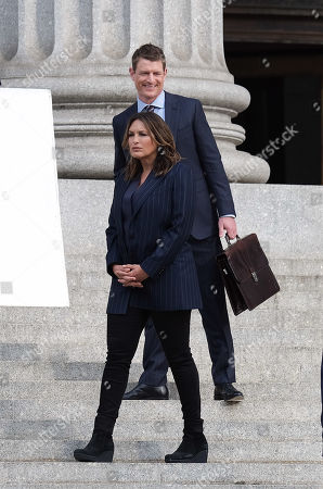 Editorial image of 'Law and Order: SVU' on set filming, New York, USA - 23 Apr 2019