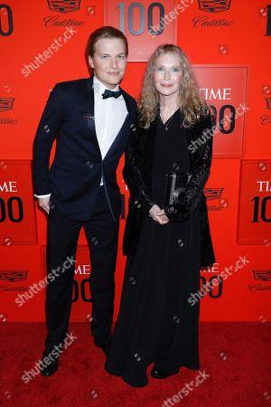 Stock Image of Ronan Farrow and Mia Farrow