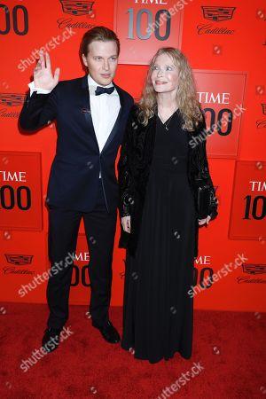 Stock Photo of Ronan Farrow and Mia Farrow