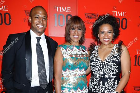 William Bumpus Jr., Gayle King and Kirby Bumpus