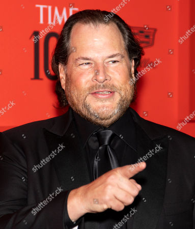 US businessman Marc Benioff arrives for the annual Time 100 Gala at the Frederick P. Rose Hall at the Lincoln Center in New York, New York, USA, 23 April 2019. The annual event coincides with Time Magazine's annual list of the 100 most influential people in the world.