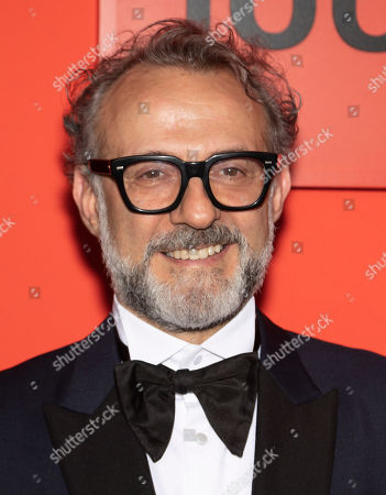 Italian restauranteur Massimo Bottura arrives for the annual Time 100 Gala at the Frederick P. Rose Hall at the Lincoln Center in New York, New York, USA, 23 April 2019. The annual event coincides with Time Magazine's annual list of the 100 most influential people in the world.