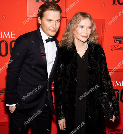 Journalist Ronan Farrow (L) and actress Mia Farrow (R) arrive for the annual Time 100 Gala at the Frederick P. Rose Hall at the Lincoln Center in New York, New York, USA, 23 April 2019. The annual event coincides with Time Magazine's annual list of the 100 most influential people in the world.