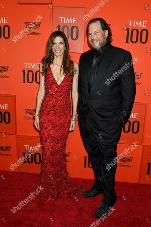 Lynn Benioff and Marc Benioff