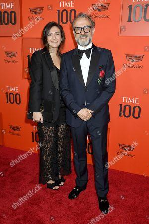 Stock Photo of Lara Gilmore and Massimo Bottura