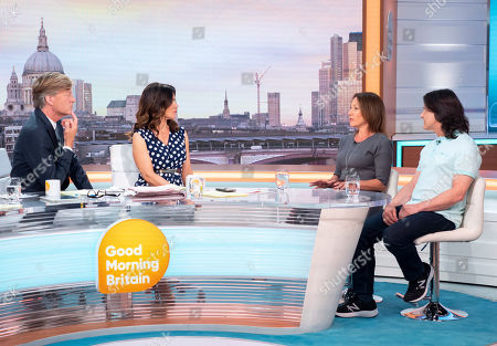Richard Madeley and Susanna Reid with Tanya Franks and Scott Mitchell