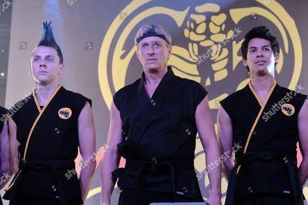 Jacob Bertrand as Hawk, William Zabka as Johnny Lawrence and Xolo Mariduena as Miguel Diaz