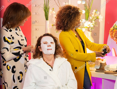 Lorraine Kelly and Keshia East - Beauty Demo 'Egg Facial'