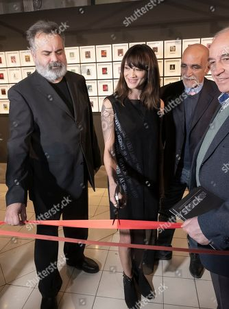 Asia Argento at the opening of her photographic exhibition at the National Museum of Cinema