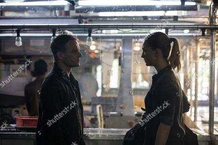 Alec Newman as Pavel Kuragin and Yasemin Kay Allen as Katrina Zarkova