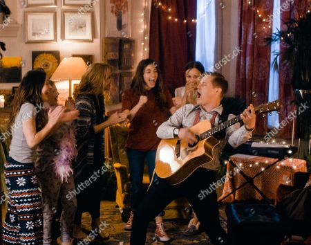 Stock Photo of Melanie Stone as Meg, Elise Jones as Young Amy, Lea Thompson as Marmee, Sarah Davenport as Jo, Allie Jennings as Beth and Lucas Grabeel as Laurie