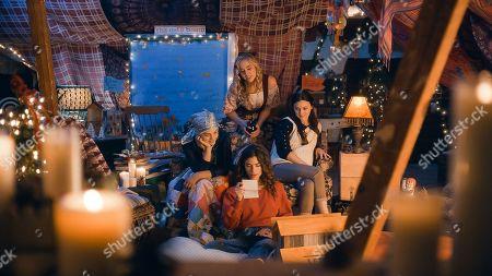 Allie Jennings as Beth, Taylor Murphy as Older Amy, Sarah Davenport as Jo and Melanie Stone as Meg