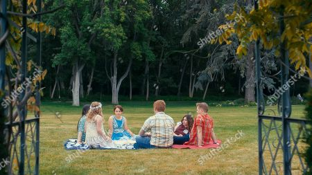 Melanie Stone as Meg, Elise Jones as Young Amy, Allie Jennings as Beth, Stuart Edge as Brooke, Sarah Davenport as Jo and Lucas Grabeel as Laurie