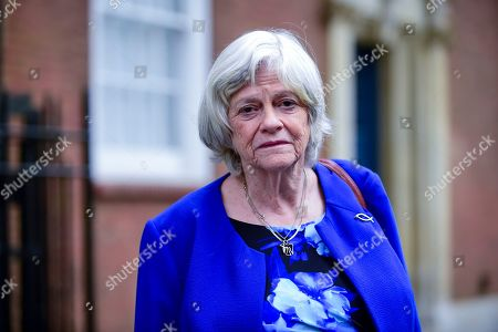 Stock Photo of Ann Widdecombe, former Conservative MP, attends a photocall for the Brexit Party at Smith Square, Westminster.